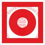 Знак Кнопка включения установок (систем) пожарной автоматики F 10 Артикул 723047