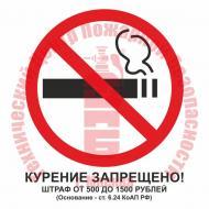 Знак Курение запрещено! T 340-04 Артикул 724057