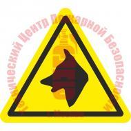 Знак Осторожно. Злая собака W 36 Артикул 724145