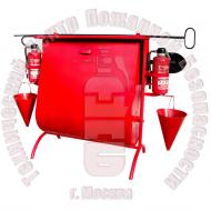 ЩП-03. Стенд пожарный с опрокидывающейся песочницей с комплектующими · 1,5 мм Артикул 600015