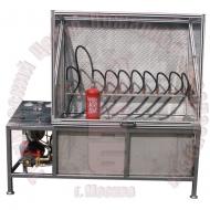 Установка для гидравлических испытаний корпусов порошковых огнетушителей ТЦ-20 Артикул 600136