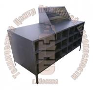 Верстак для обслуживания и ремонта СИЗОД с ячейками под баллоны Артикул 600224